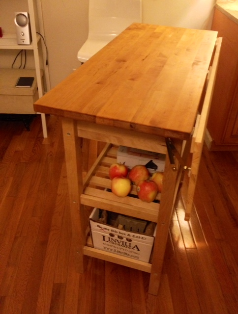 Kitchen Cart With Drop Leaf Extension Ikea Hackers