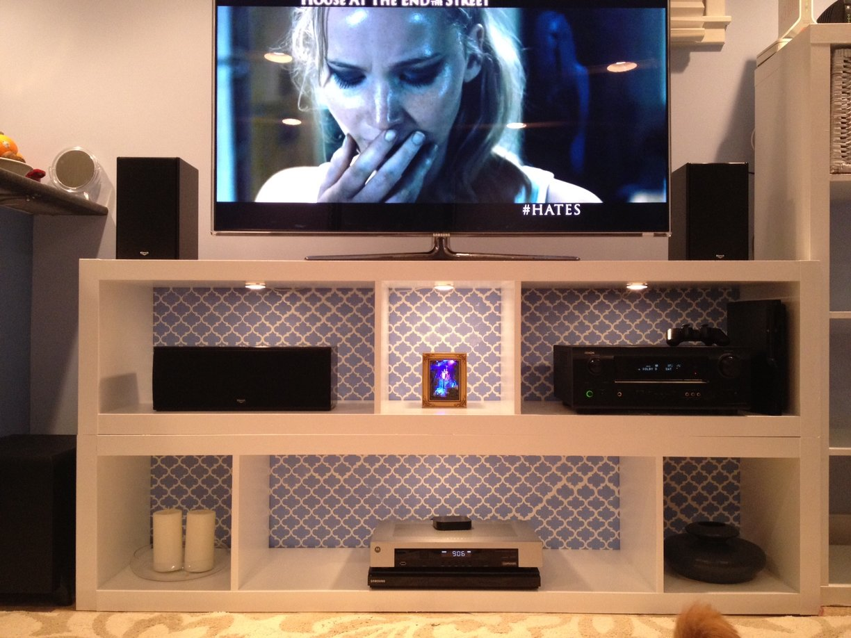 Expedit Bookshelves To Fabulous Tv Stand Ikea Hackers