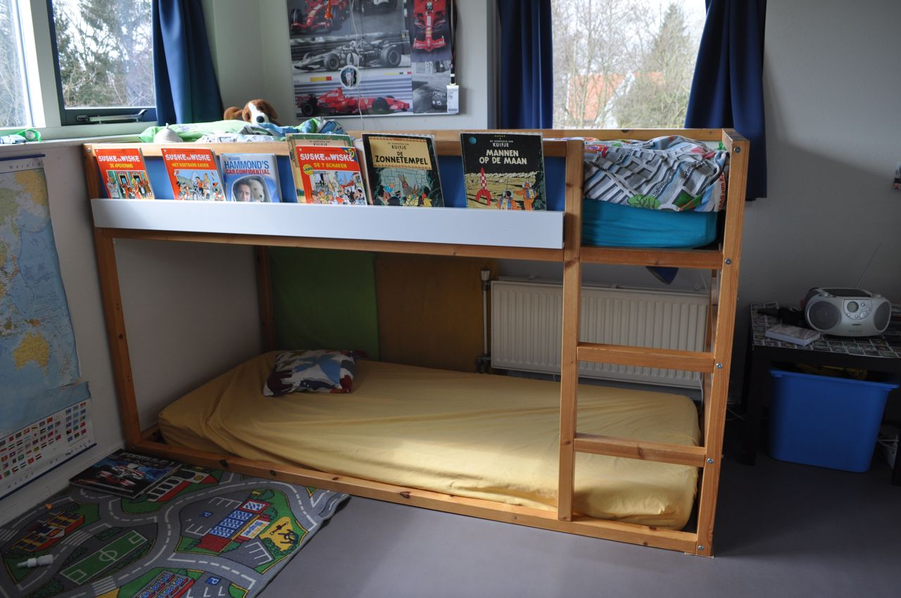 high sleeper bookshelf kura ribba ikea hackers. Black Bedroom Furniture Sets. Home Design Ideas
