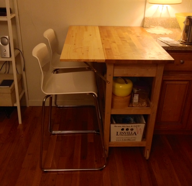 Ikea Kitchen Cart Hack: Kitchen Cart With Drop Leaf Extension