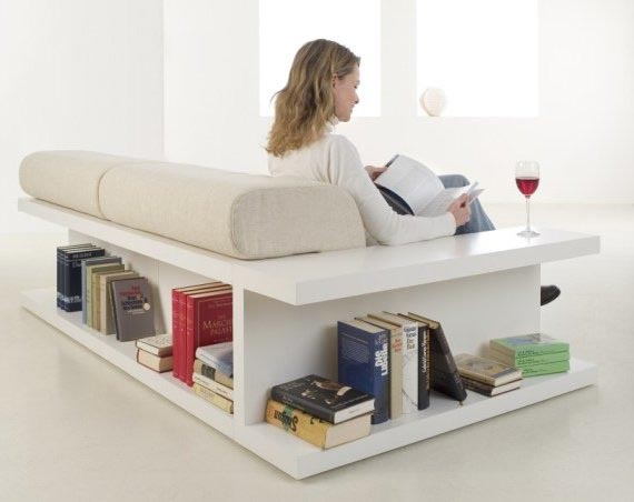 Hacker Help Sofa With Built In Storage Shelves Ikea