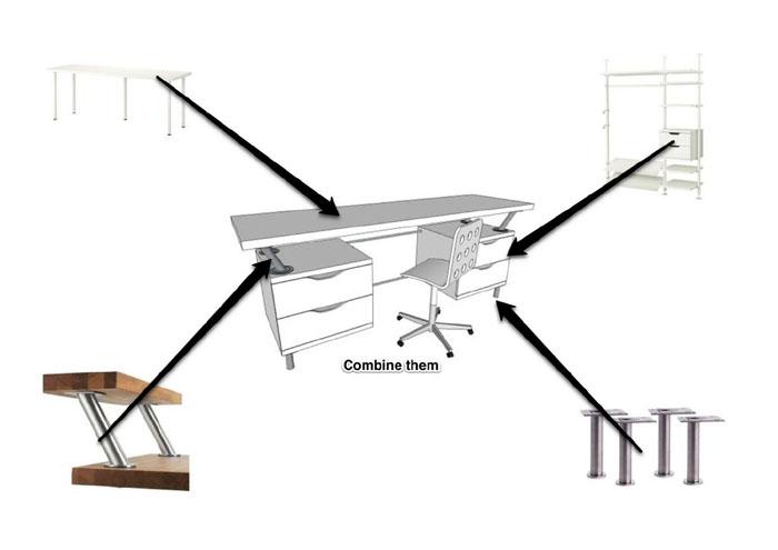 creative ikea desk ikea hackers. Black Bedroom Furniture Sets. Home Design Ideas