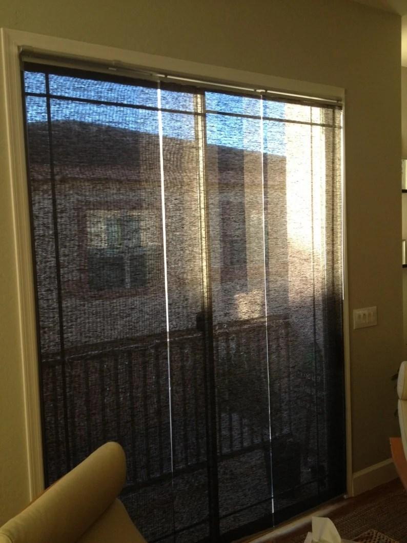 Sliding Panel Track Blinds: Kvartal Panels Mounted Inside A Sliding Glass Door