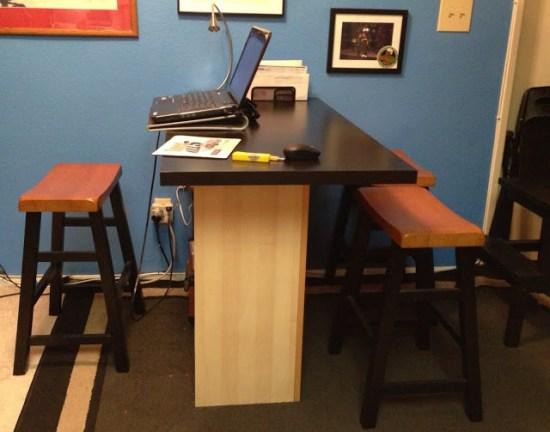 Breakfast Bar Home Office Desk Ikea Hackers