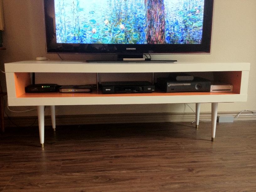 mid century lack tv hack ikea hackers. Black Bedroom Furniture Sets. Home Design Ideas