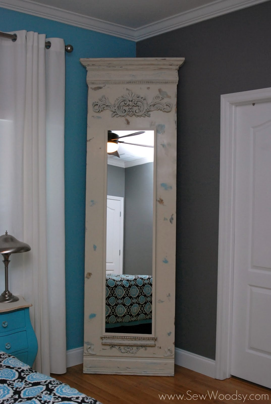Diy Trumeau Floor Mirror Using Ikea Stave Mirror Ikea