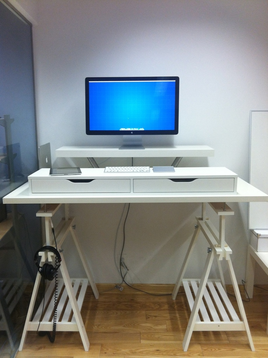 Nice Extra Tall but Adjustable Standing Desk