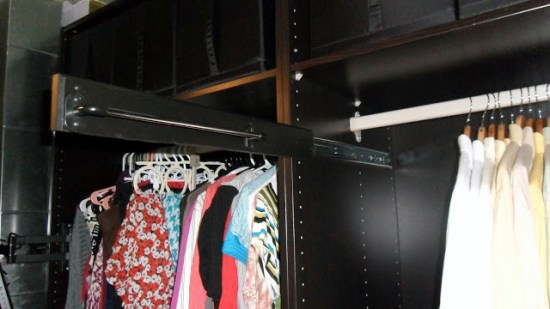 Extendable tie rack for pax unit ikea hackers for Portacravatte ikea
