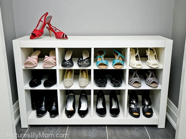 if you love to look at your shoes even more than you like to wear them then this is the hack for you itll store your shoes while displaying them - Shoe Rack Ikea
