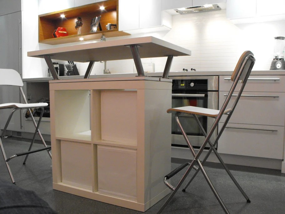 expedit kitchen island expedit mobile island ikea hackers 3624