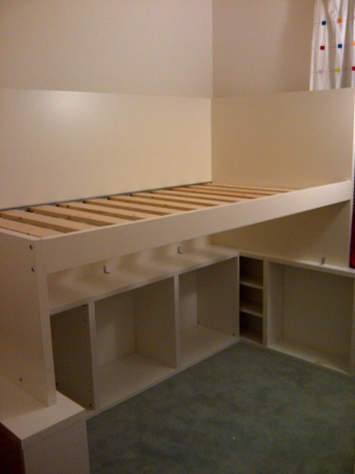half loft bed plans