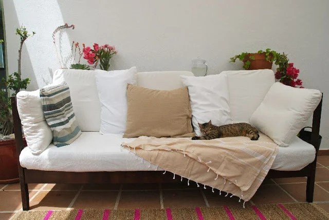 Outdoor sofa from FJELLSE bed