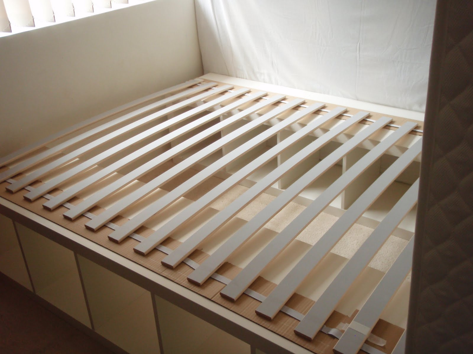 Expedit re purposed as bed frame for maximum storage IKEA Hackers