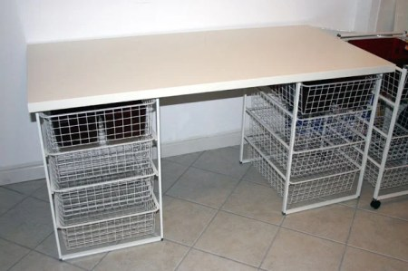 Sewing/Crafting table with Basket storage