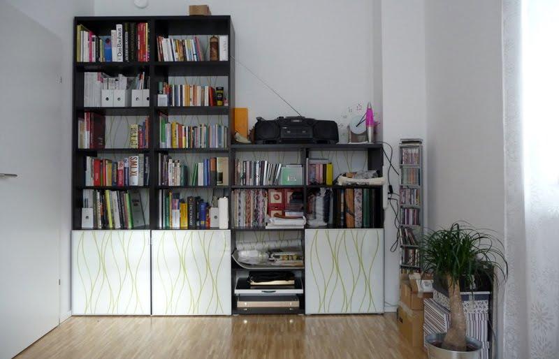 Materials: BESTA shelves, TOMBO doors, INREDA extra inserts, aluminium  angles, screws, screwdriver, drill, pencil, ruler, spirit level, black  paint, brush, ...