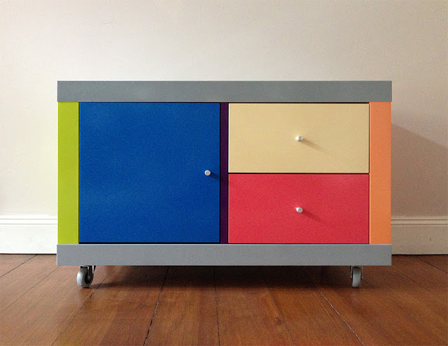 paint Expedit - a Gerhard Richter inspired cabinet
