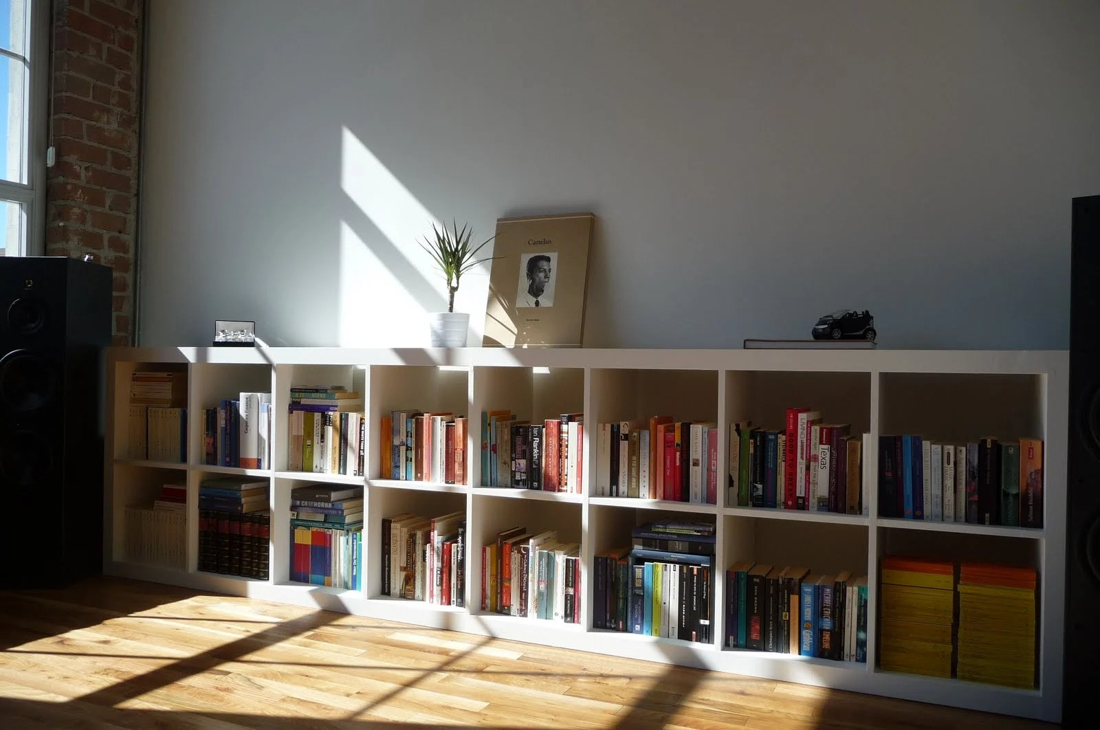 Combined Book Shelves To Create A 2x8 Expedit Ikea Hackers