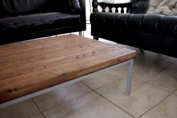 Farmhouse styled IKEA KLUBBO coffee table