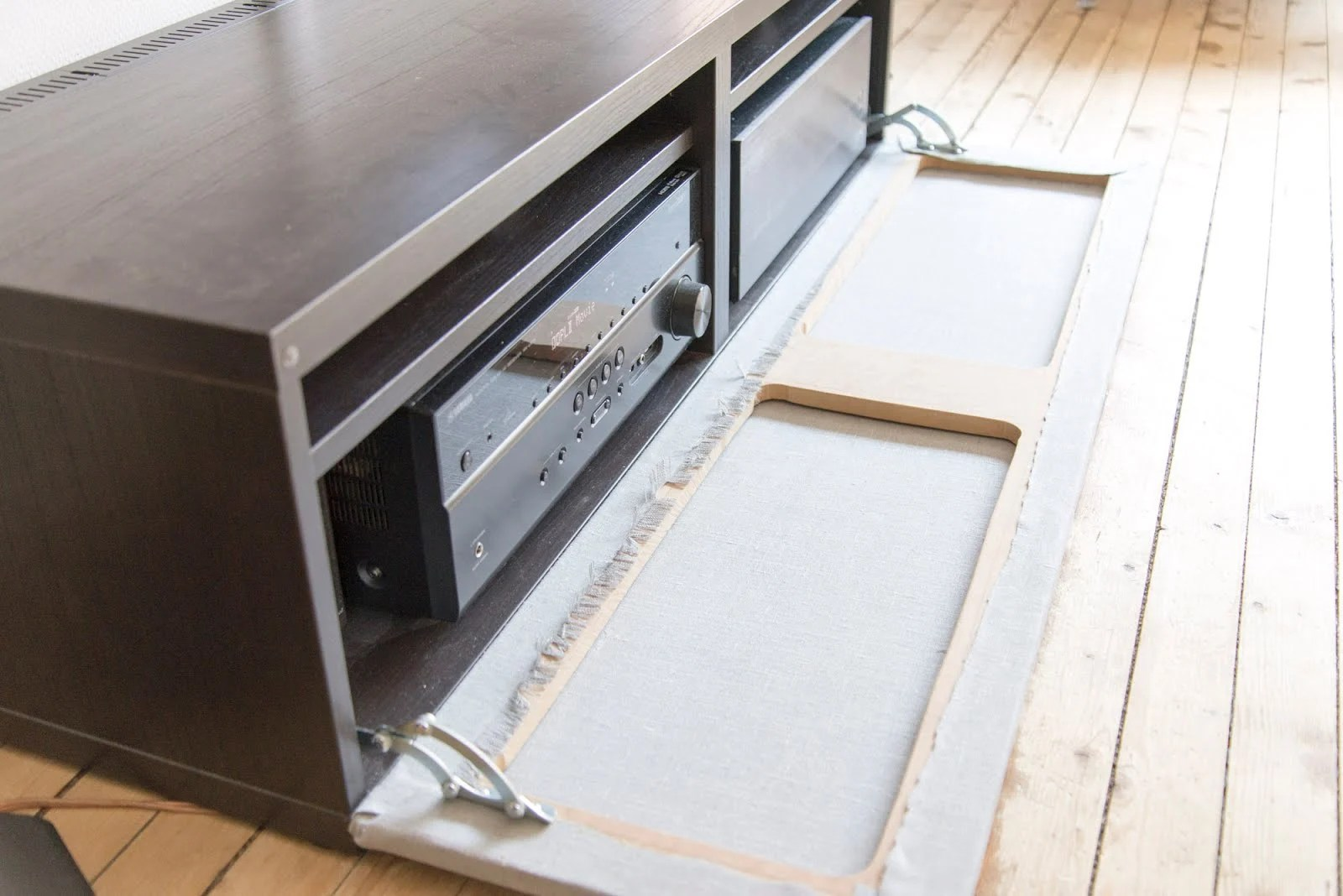 besta media unit with textile front ikea hackers. Black Bedroom Furniture Sets. Home Design Ideas