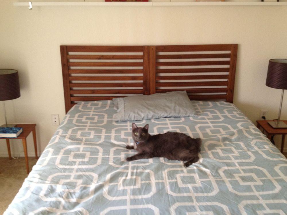 pplar headboard hack ikea hackers. Black Bedroom Furniture Sets. Home Design Ideas