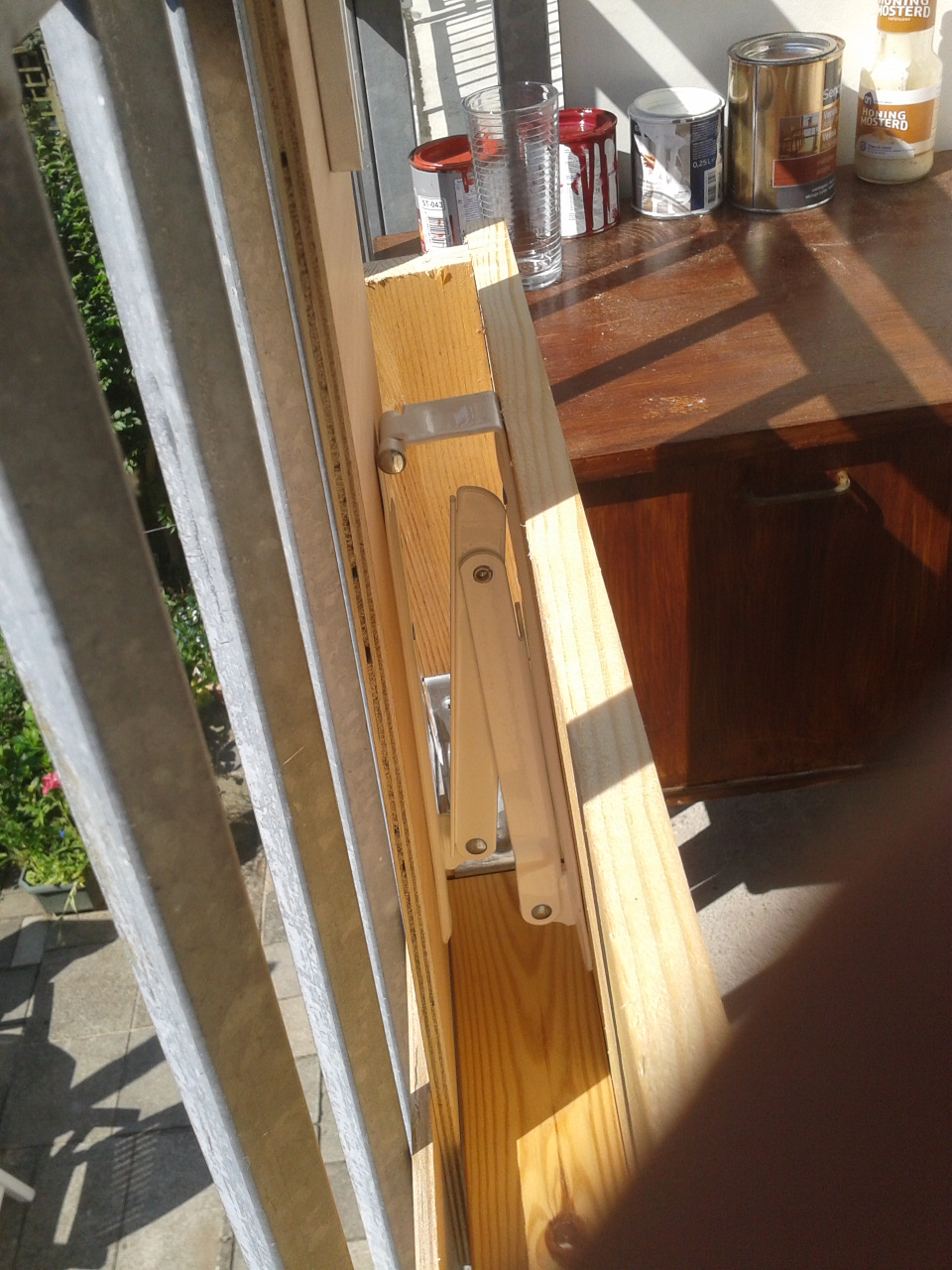 Unique Creating the foldable table was relatively simple when I found some fold up shelf brackets at my local DIY store First sawing the table in the machine
