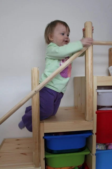 Trofast as bunk bed steps