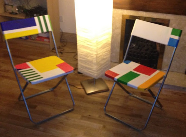 mondrian inspired IKEA jeff chairs