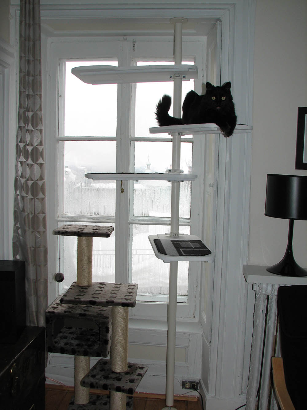 Black And White Stolmen Cat Tree Ikea Hackers