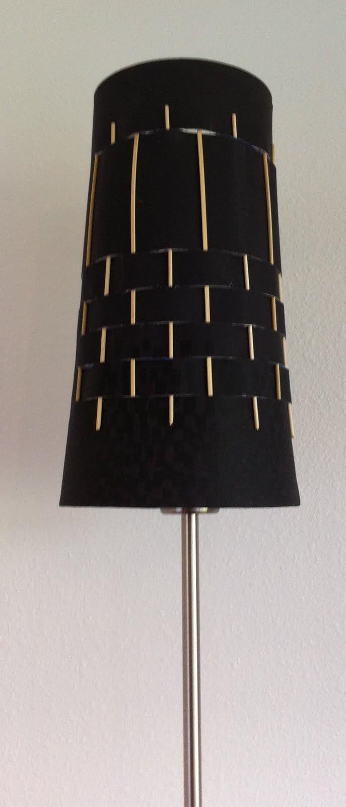 skewered ikea lamp shade