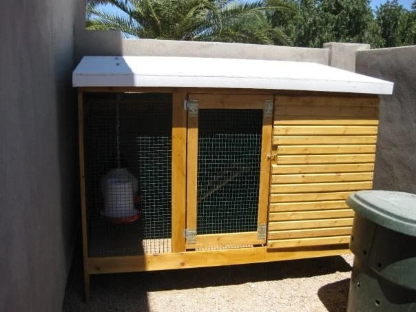 cosy designs for chicken houses. We hung the feeder and waterer from roof with a very simple washer  bolt s hook hack job All told this project took month worth of weekends Ikea home for chicks IKEA Hackers