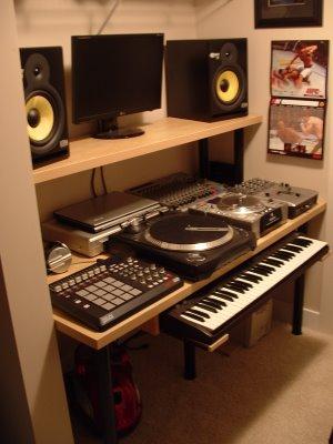 Compact Music Studio Ikea Hackers