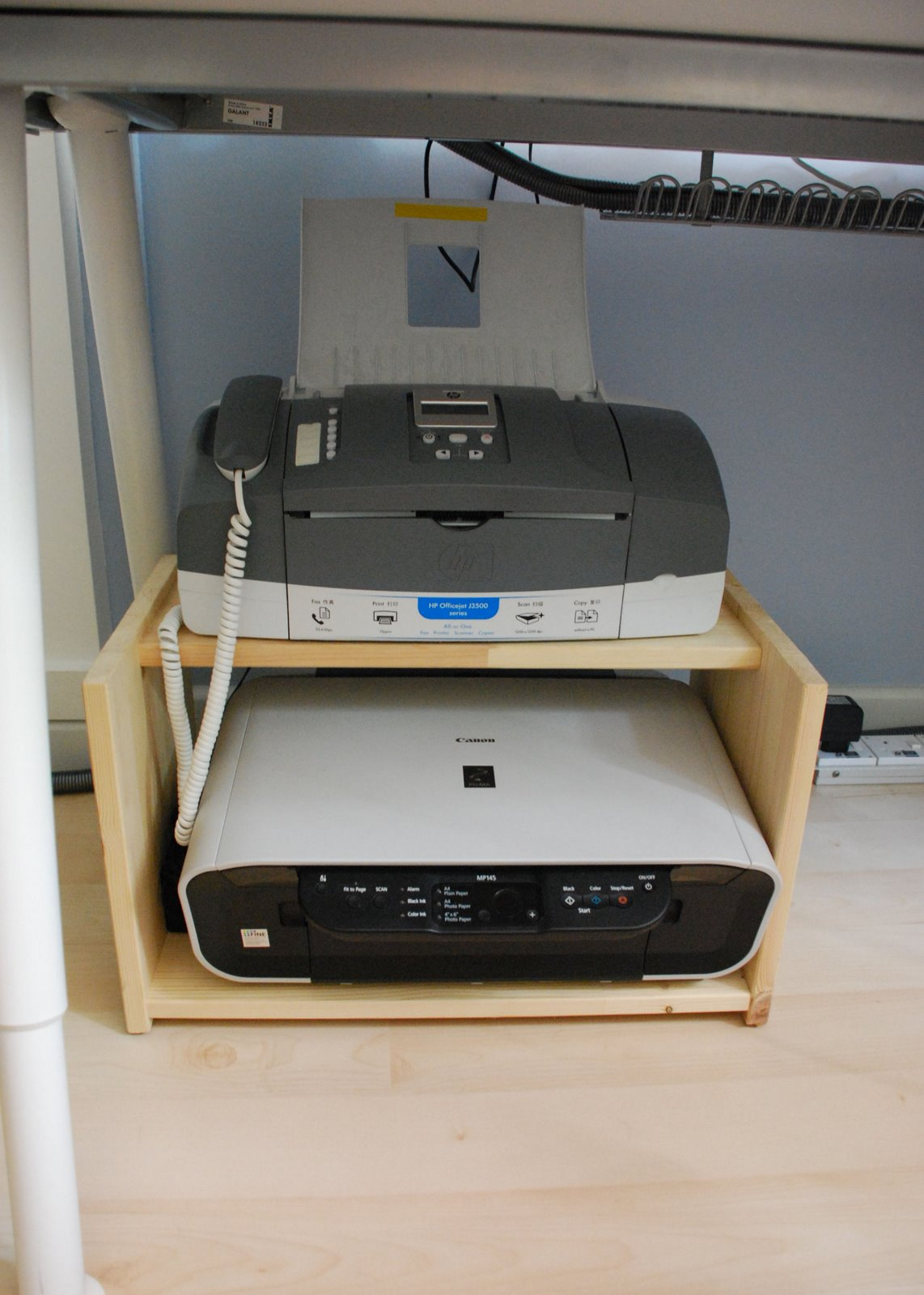 Rast Bedside Table Turned Printer Rack Ikea Hackers