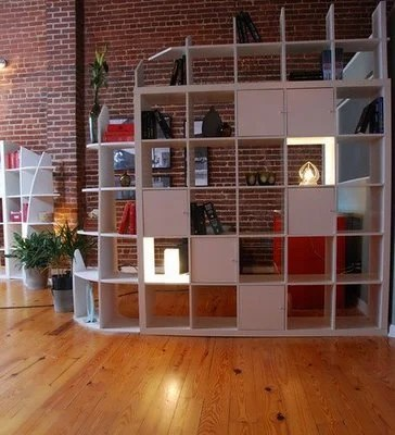 Expedit storage and room divider from hgtv guy ikea hackers for Libreria ikea kallax