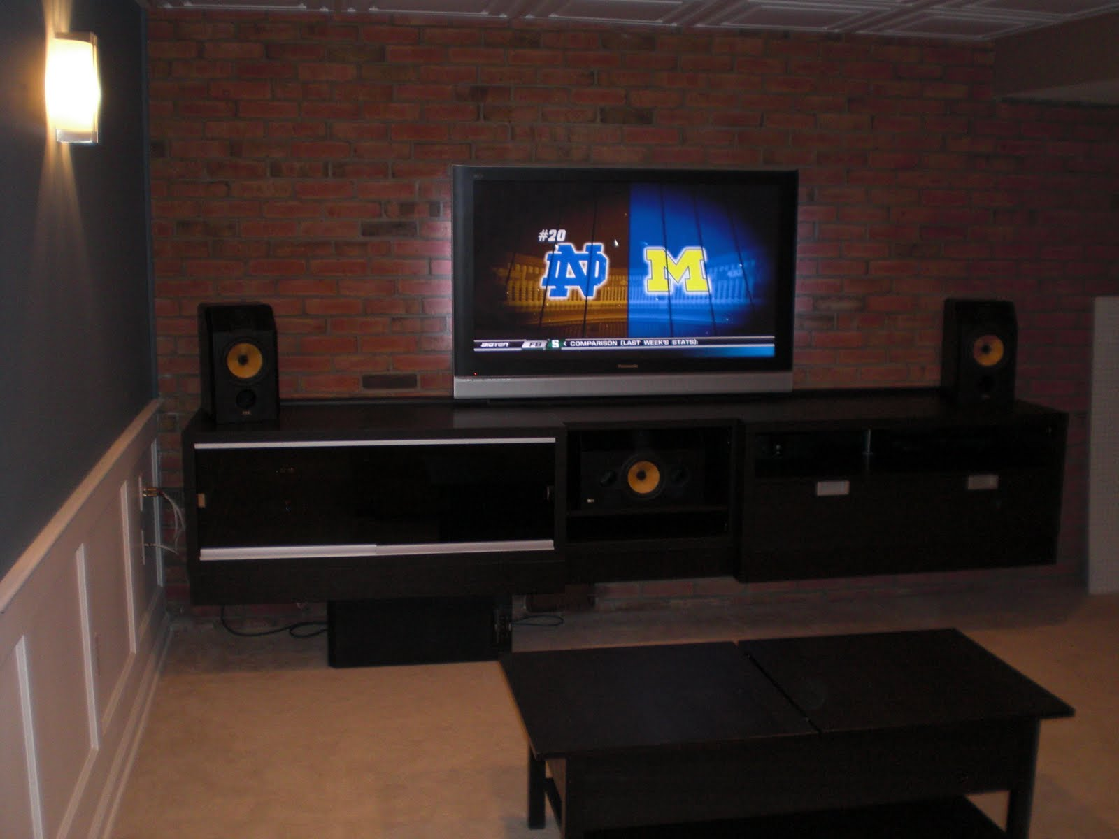Built in besta entertainment center ikea hackers for Entertainment cabinets ikea