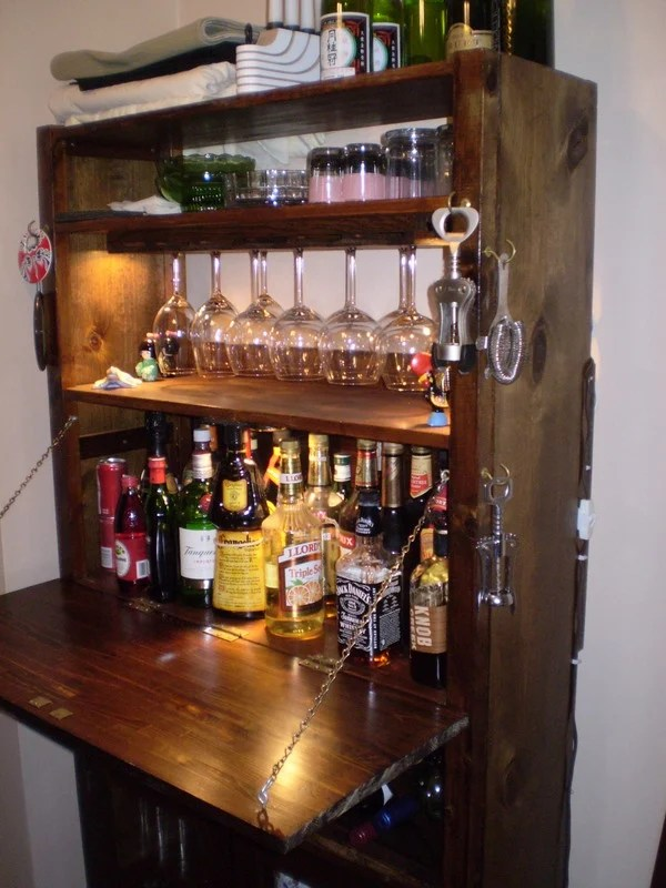 Have a cocktail on an ivar bar ikea hackers for Mini bar wall cabinet