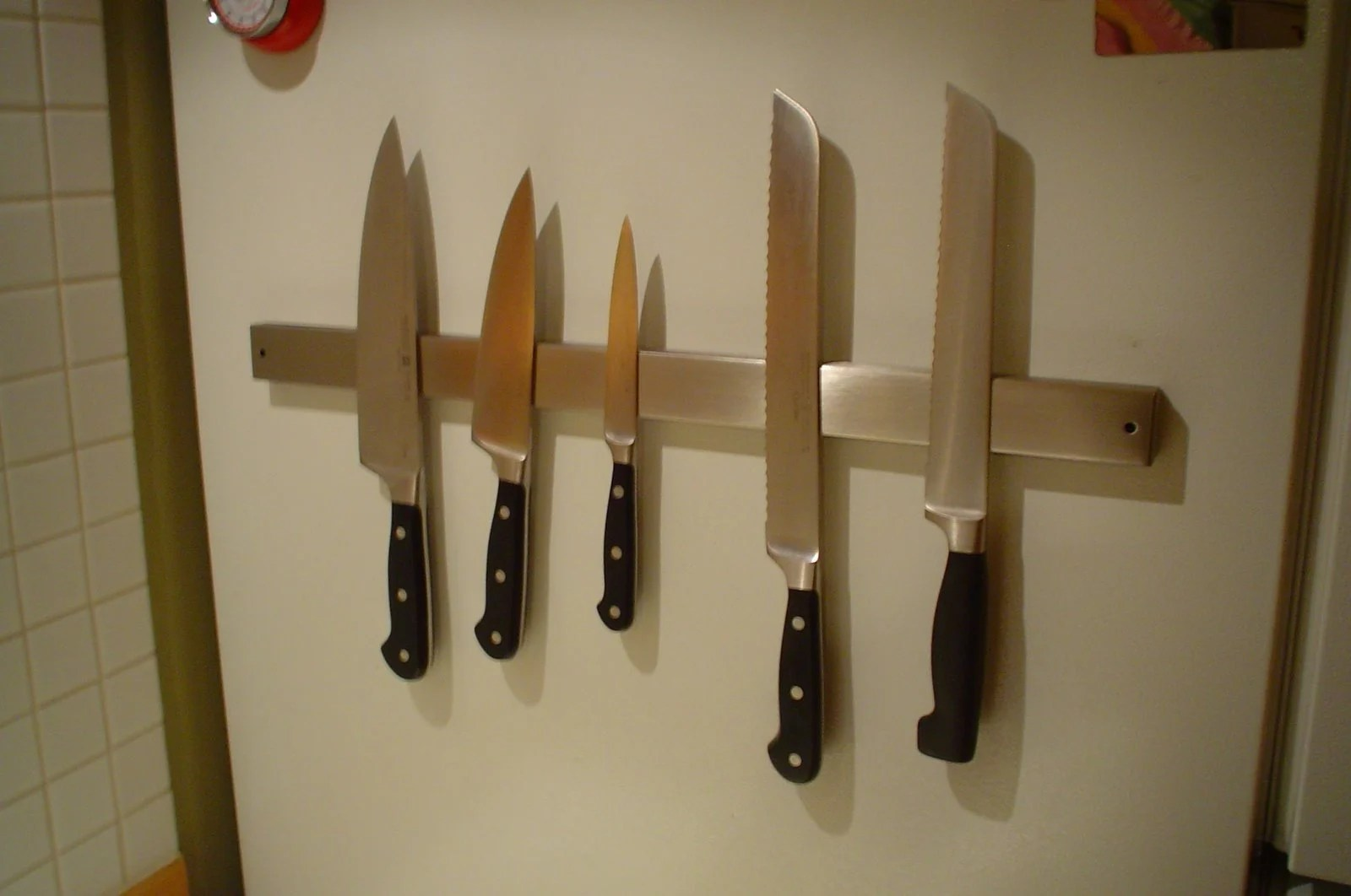 Magntic strip knife storage consider