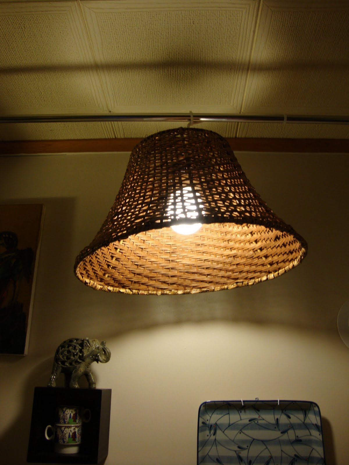 Tension Rod Hanging Lamp - IKEA Hackers