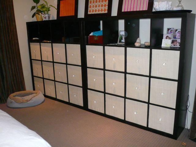 Genius Idea Ikea Expedit Shelves With Baskets For Storage: Super Swank Wall-o-shelves Dresser