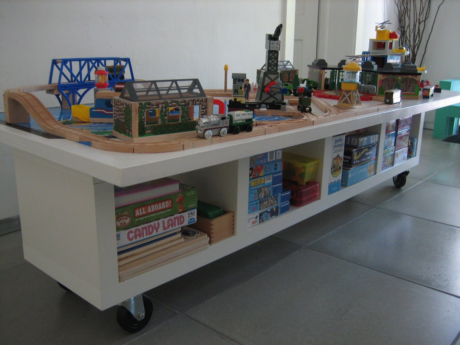 The dreaded Kids Train Table with a new twist IKEA Hackers