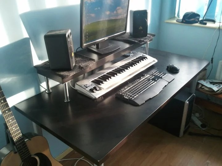 cheapest home studio desk ever ikea hackers. Black Bedroom Furniture Sets. Home Design Ideas