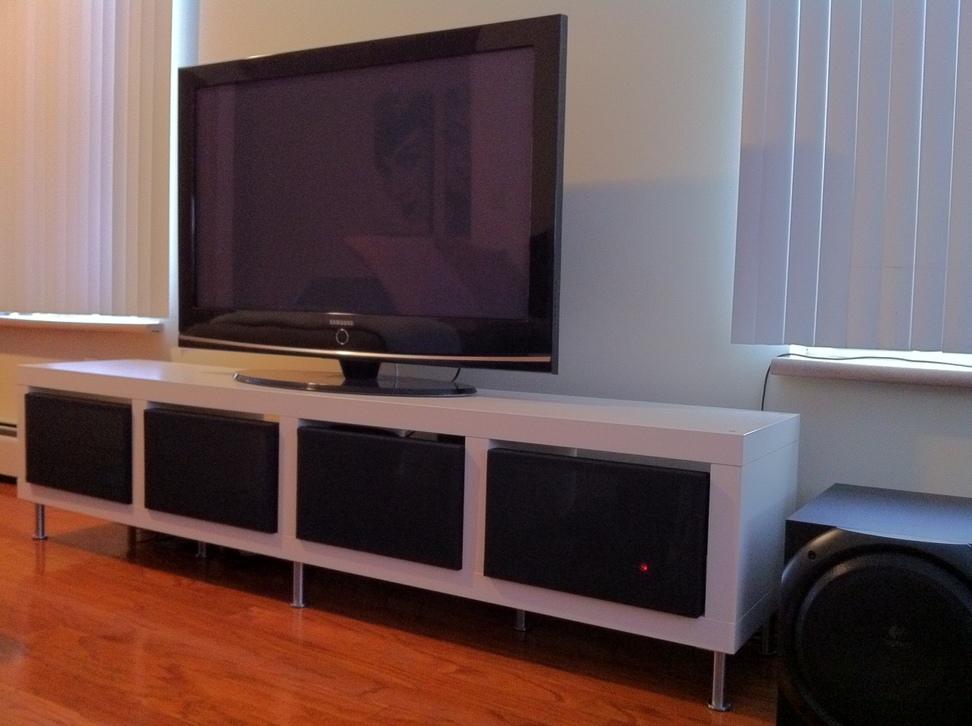 Clean Minimalist Tv Stand Ikea Hackers