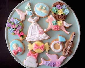 バレンタイン、クッキー、デコ、手作り
