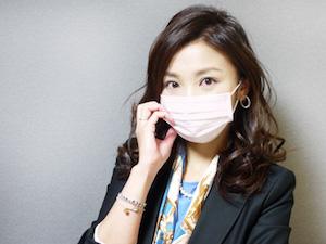 マスク、付け方、美人、1