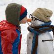 赤ちゃん、雪、遊ぶ、4