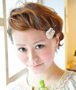 結婚式 ショート 髪型 ゲスト、4