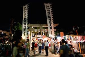 9月 花火大会 川辺八幡神社 日程、6