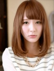 秋 ミディアム 髪型 レディース 人気、7