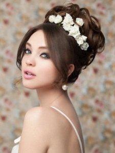 花嫁 髪型 結婚式 ウェディングドレス 8