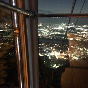 岐阜城夜景 岐阜城から夜ロープウェイで降りる時の夜景