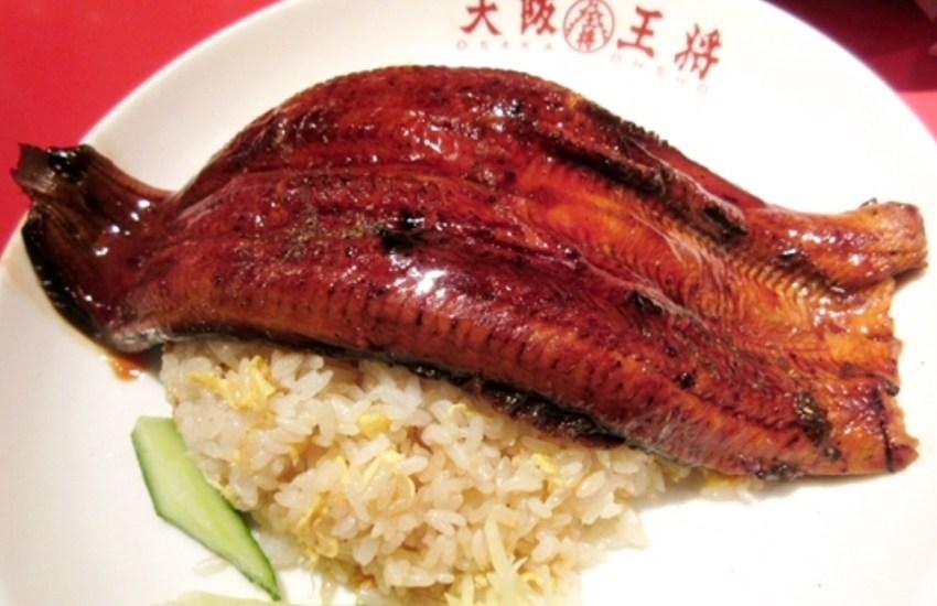 王将のうなぎ(1,580円)